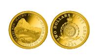 Zlatá minca Machu Picchu