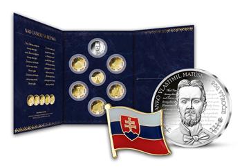 Medaila s portrétom Janka Matúšku, zakladač na medaily a odznak vlajka Slovenskej republiky ZADARMO
