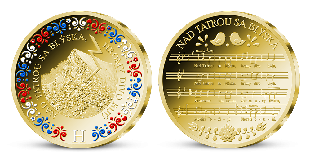 Slovenská štátna hymna uctená 24-karátovým zlatom!