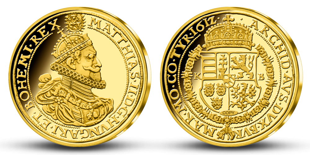 Replika mince Dukát Mateja II.