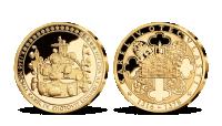 Svätováclavská koruna, medaila plátovaná rýdzim zlatom