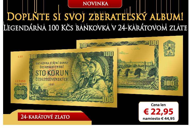 Zlaté repliky československých bankoviek