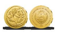Zlatá minca Julius Caesar