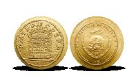 Koloseum na minci z rýdzeho zlata