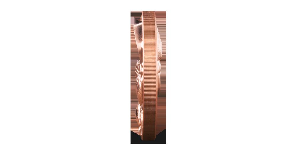 Majestátny orol na medenej minci