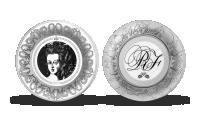 Strieborná minca s portrétom Márie Antoinetty