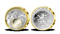 Strieborná medaila Alfons Mucha - Poézia s 31 kryštálmi Swarovski