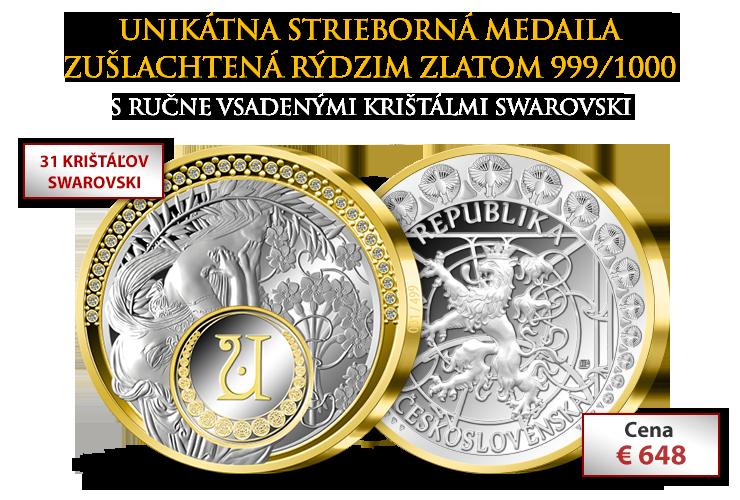 Pokračovanie radu medailí s motívom od A. M. Muchy