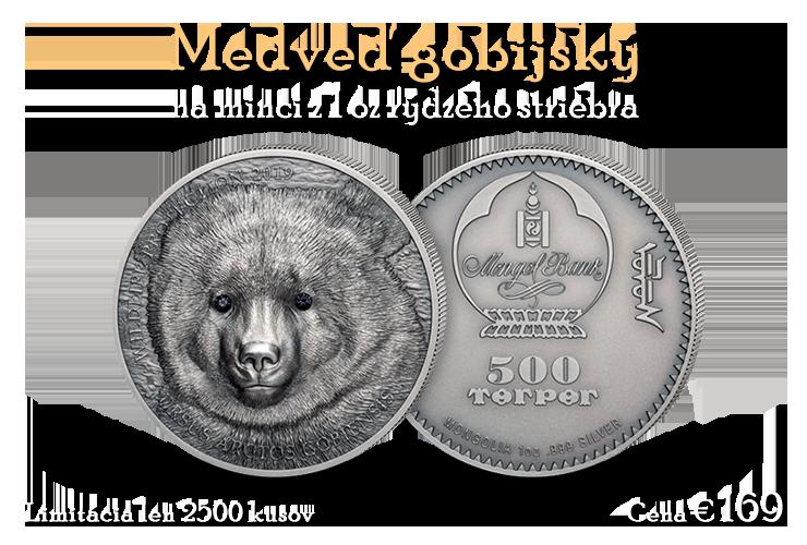 Medveď Gobi na minci