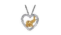 Náhrdelník Srdce sa slonom vykladaný 40 Swarovski kryštálmi