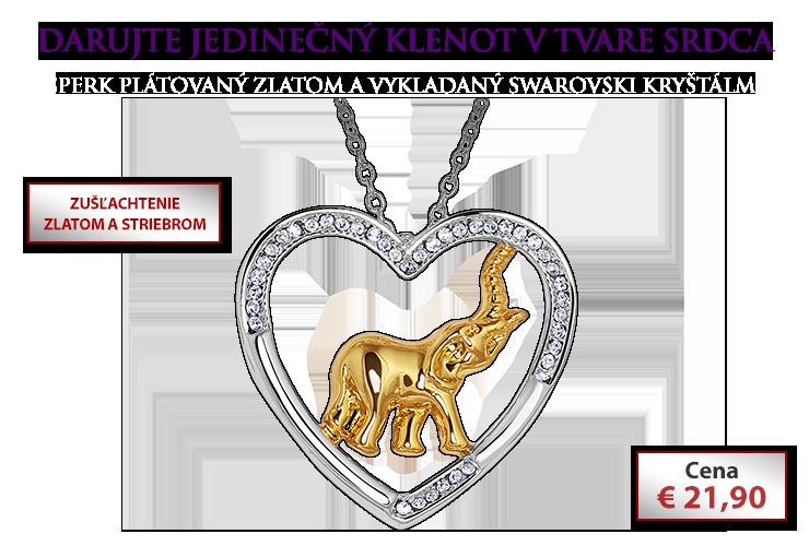 Náhrdelník Srdce sa slonom