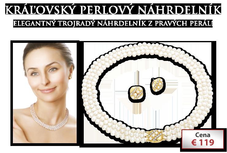Kráľovský perlový náhrdelník