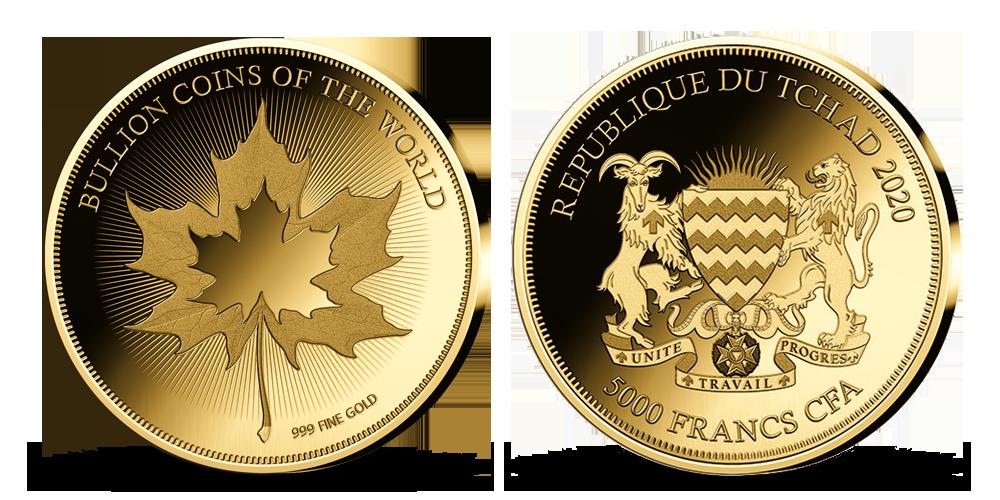 Kolekcia: Najvyhľadávanejšie zlaté mince sveta Javorový list
