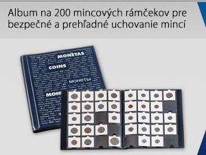 Album na 200 mincových rámčekov pre bezpečné a prehľadné uchovanie mincí