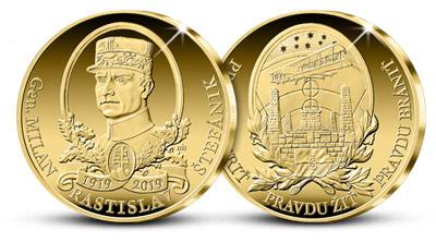 M. R. Štefánik - medaila z Fairmined zlata