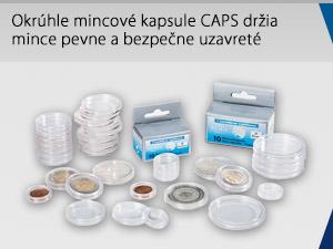 Okrúhle mincové kapsule CAPS držia mince pevne a bezpečne uzavreté