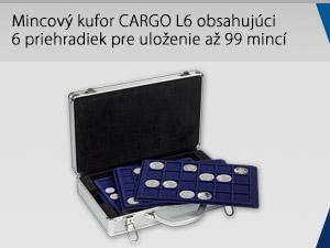 Mincový kufor CARGO L6 obsahujúci 6 priehradiek pre uloženie až 99 mincí