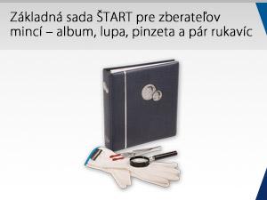 Základná sada ŠTART pre zberateľov mincí – album, lupa, pinzeta a pár rukavíc