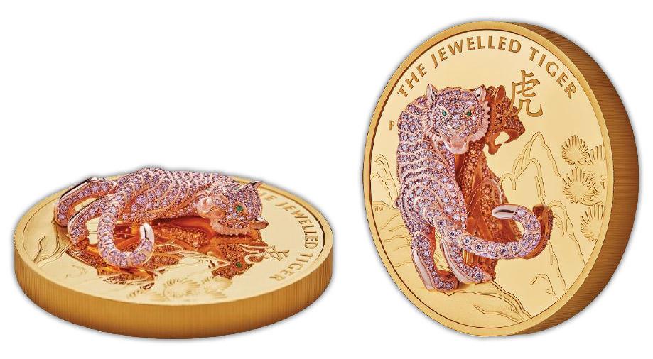 Tiger - zlatá minca