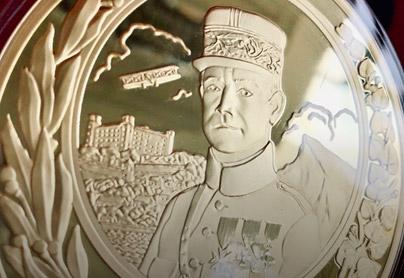 Pamätná medaila k 140. výročiu narodenia M. R. Štefánika s úctyhodným priemerom 90 mm
