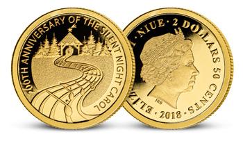 Najkrajšia vianočná koleda na zlatej minci