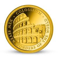 Zlatá minca Koloseum