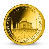 Zlatá minca Tádž Mahal