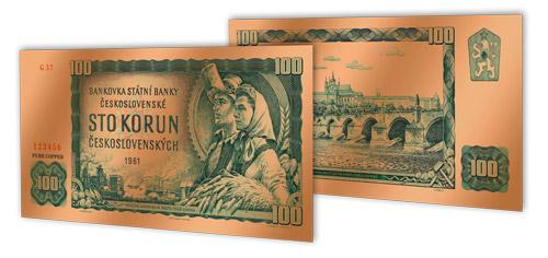 Replika legendárnej stokorunáčky - 100 rokov československej meny