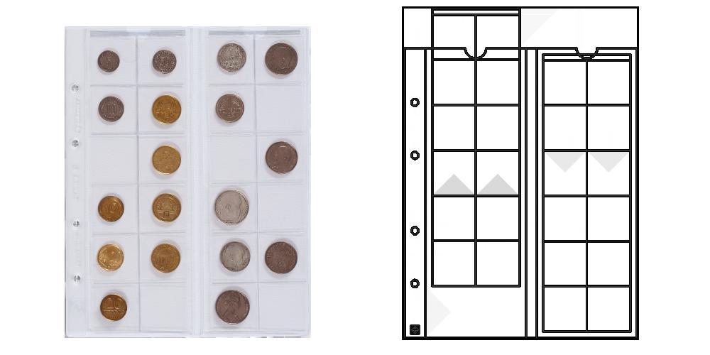 Obaly na mince OPTIMA 34