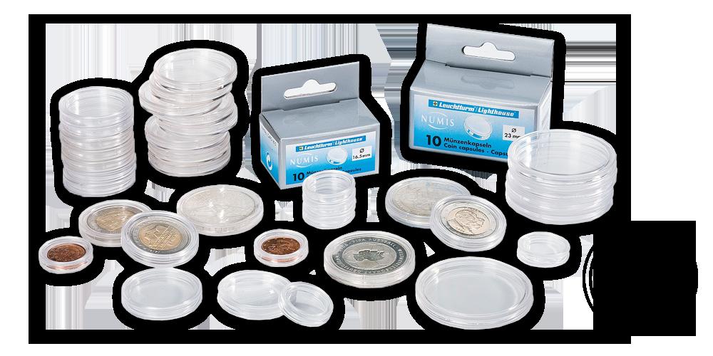 Okrúhle kapsuly CAPS pre mince s priemerom 36 mm