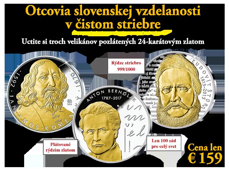 Otcovia slovenskej vzdelanosti v rýdzom striebre