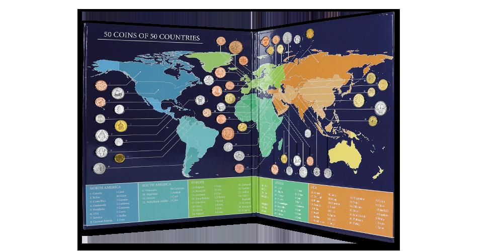 Planéta mincí - album plný numizmatov zo všetkých svetadielov