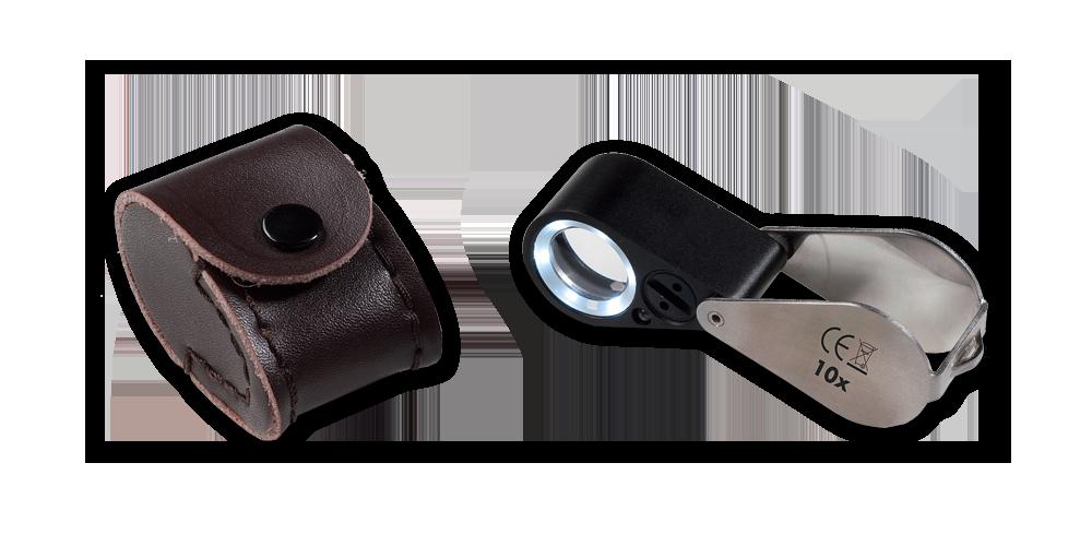 Precízna lupa s LED osvetlením a UV lampou