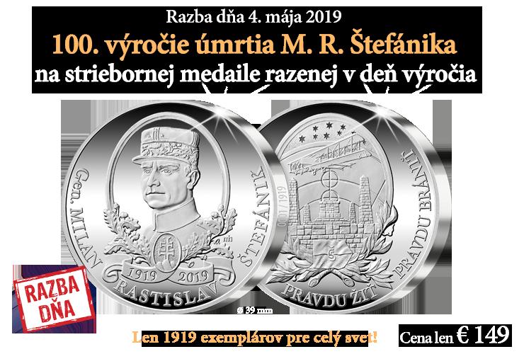 Razba dňa 100. výročie umrtia Milana Rastislava Štefánika