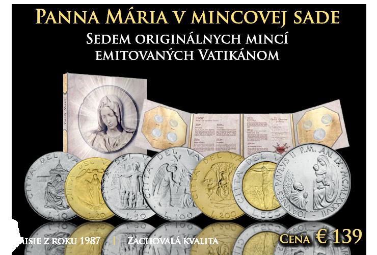 Panna Maria v mincovej sade z minulého tisícročia.