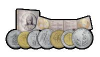 Sedem originálnych mincí emitovaných Vatikánom
