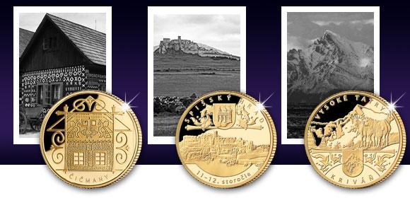 Zlaté pamätné medaily Čičmany, Spišský hrad a Kriváň