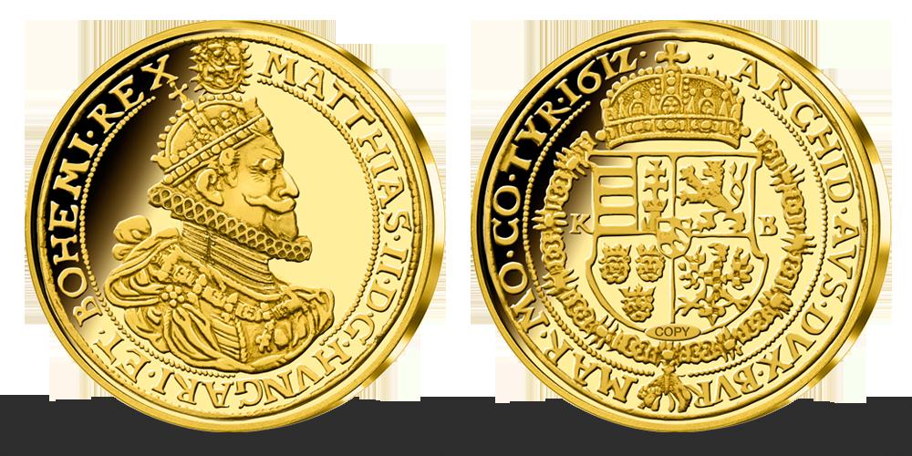 Zlatý 10 Dukát Mateja II. z roku 1612