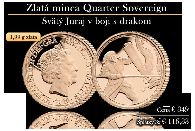 Zlatý Quarter Sovereign