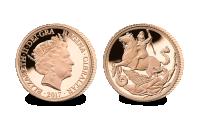 Sovereign 2017 1/4 uncová zlatá minca
