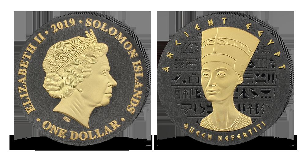 Krásna Nefertiti – egyptská kráľovná na unikátnej minci