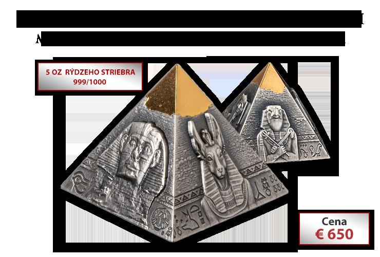 Pyramída Khafre na limitovanej 3D minci