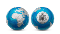 Strieborná minca Planeta Země