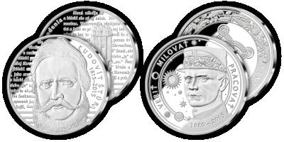 Sada strieborných medailí Ľ. Štúr a M. R. Štefánik sale