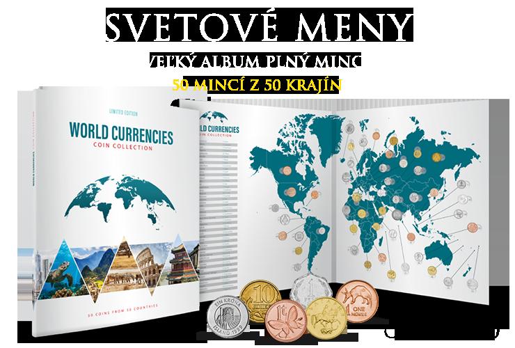 Svetové meny - veľký album plný mincí