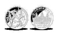 Tokio Countdown, minca z jednej unce rýdzeho striebra