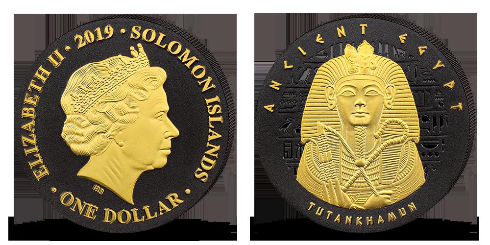 Tutanchamón minca zušľachtená niklom a zlatom