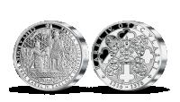 5uncová strieborná medaila Karlova univerzita