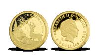 Veselé Vianoce 2020 na zlatej minci 0,50 g