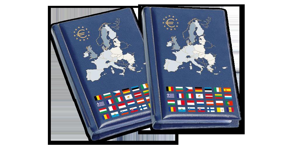 Vreckový zberateľský album ROUTE Euro, 2 kusy